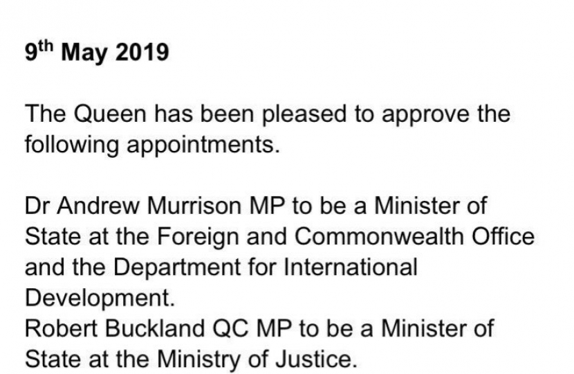 No. 10 confirmation letter