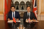 Andrew Murrison and Nasser Bourita at the Foreign Office
